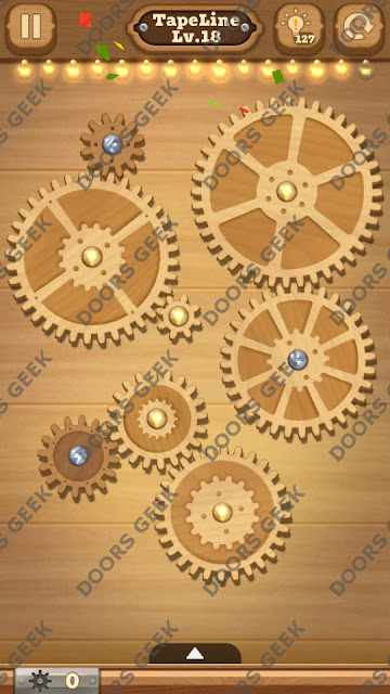 Fix it: Gear Puzzle [TapeLine] Level 18 Solution, Cheats, Walkthrough for Android, iPhone, iPad and iPod