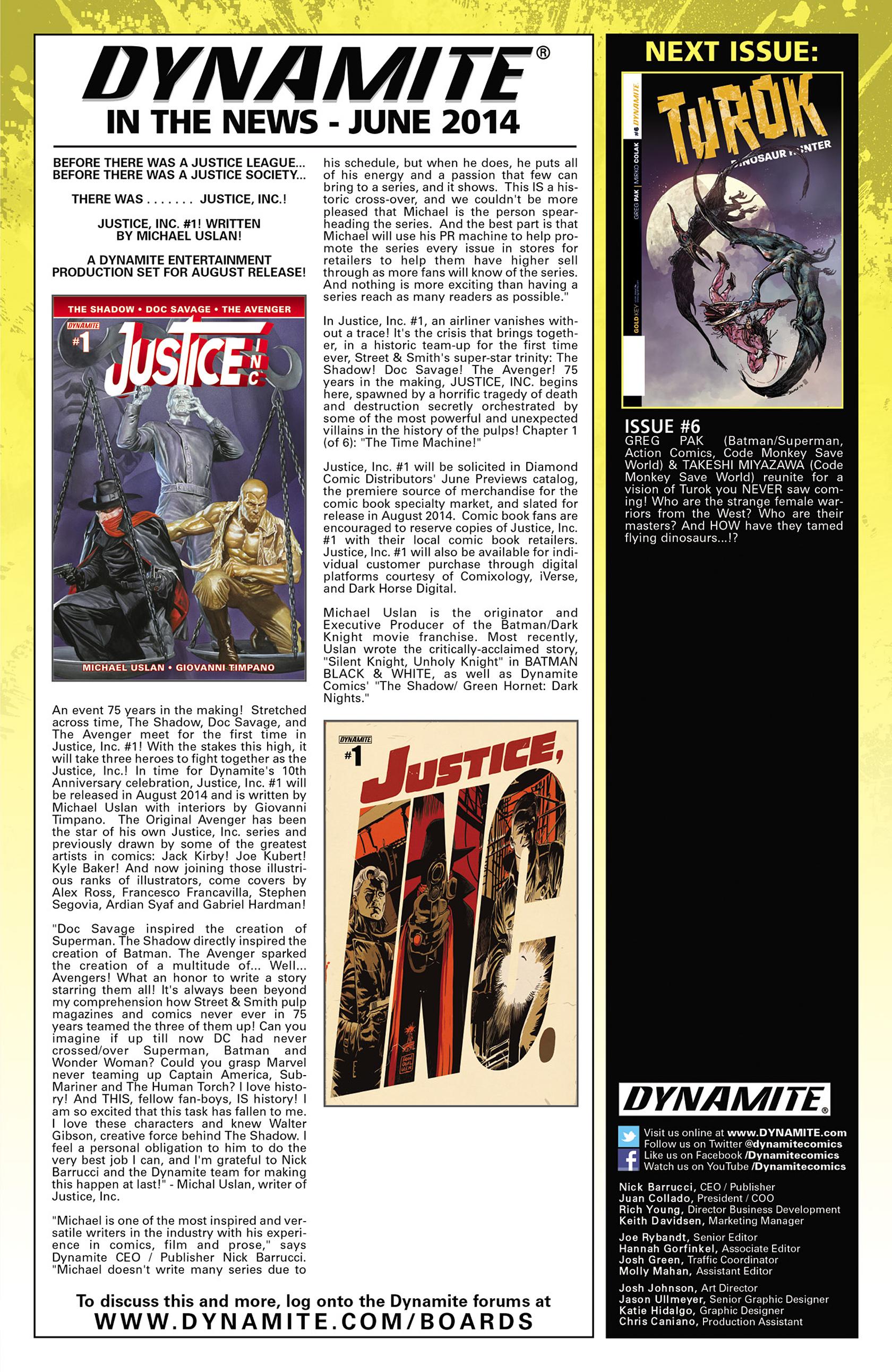 Read online Turok: Dinosaur Hunter (2014) comic -  Issue #5 - 23