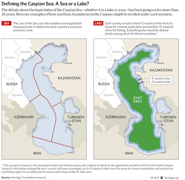 Defining the Caspian Sea: A Sea of Lake? IB:4611 / Source: Heritage Foundation Research