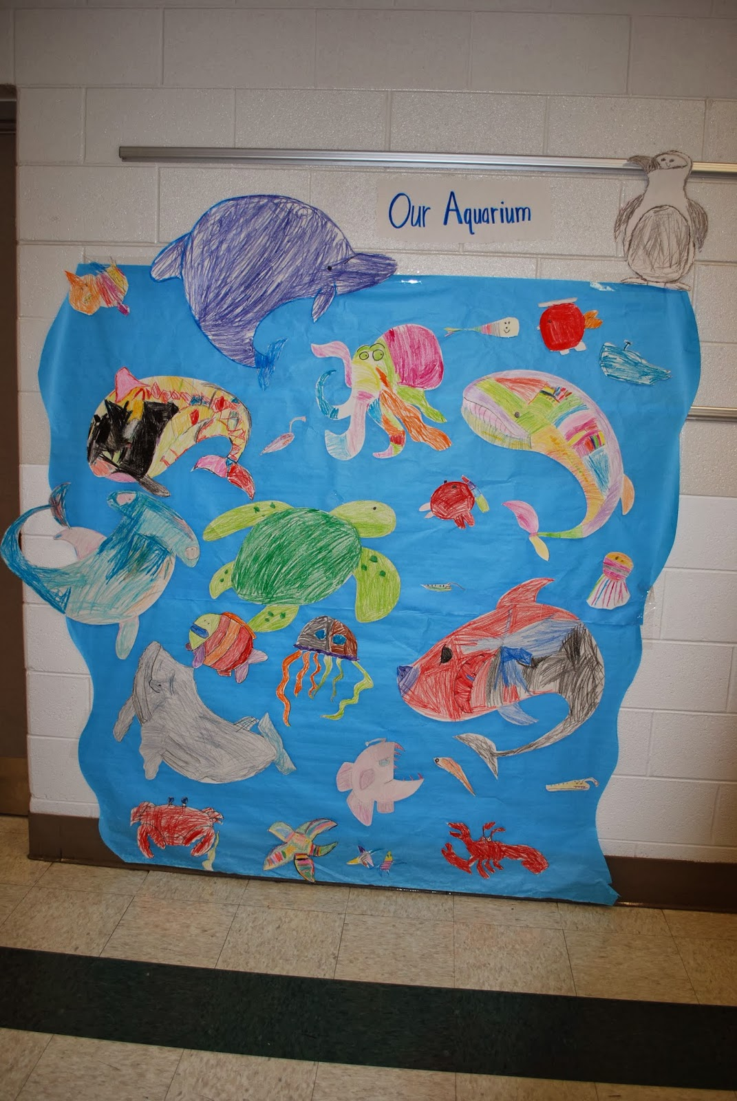Pickett County K8 Computer Lab                1st grade ocean murals Ms  DeeDee s class
