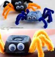 araña de juguete reciclada