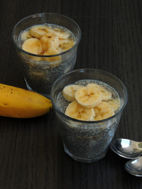 Banana Chia seeds pudding, Gluten Free chia seeds pudding