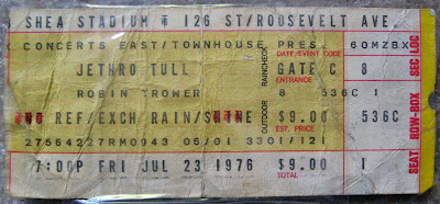 Tommy Mondello's first concert. Jethro Tull at Shea Stadium July 23, 1976