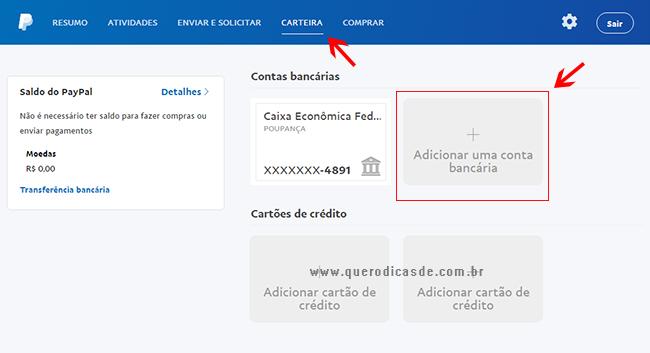 Vinculando Sua Conta Bancaria ao PayPal
