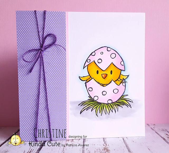 CAS card using Easter bird digital stamp.