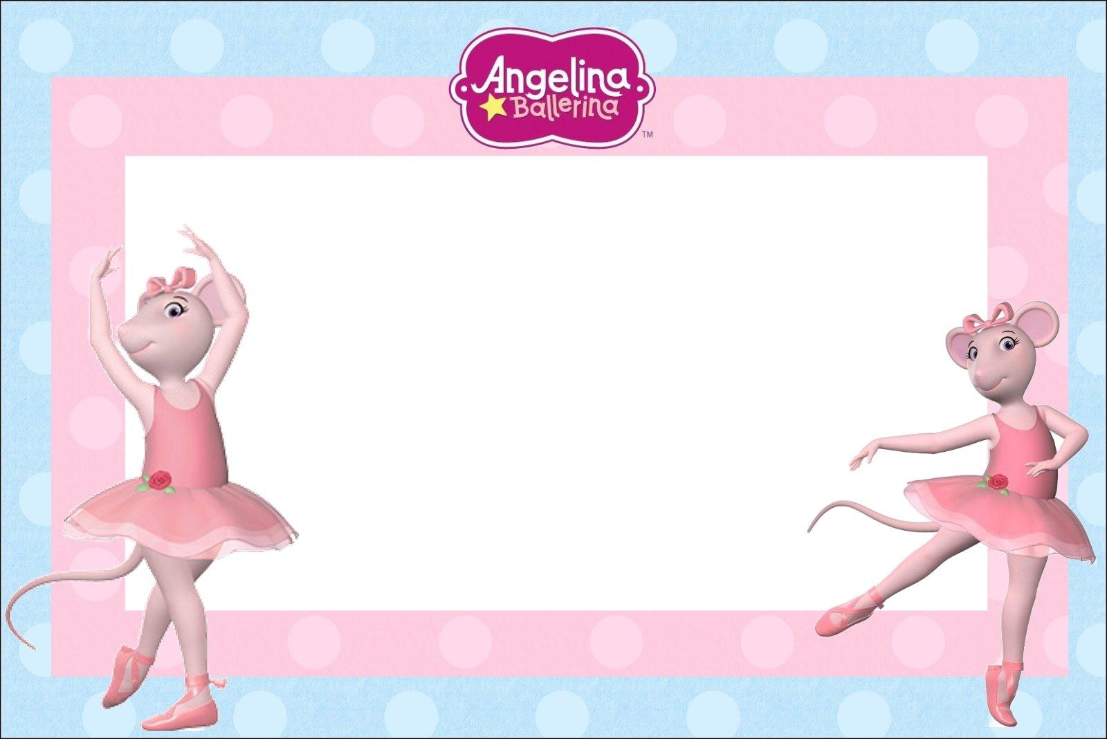 Kit Para Imprimir Da Angelina Ballerina Dicas Pra Mamae