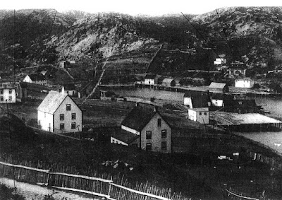 The village of Epworth, Newfoundland, on Placentia Bay, during the 1920s