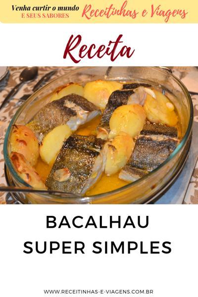 receita de bacalhau super simples - bacalhau low carb