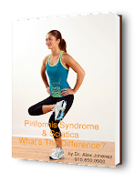 blog picture of woman doing piriformis stretch