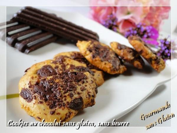 Cookies au chocolat, sans gluten, sans beurre