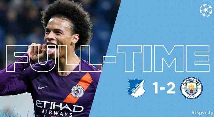 Hasil Hoffenheim vs Manchester City Skor Akhir 1-2