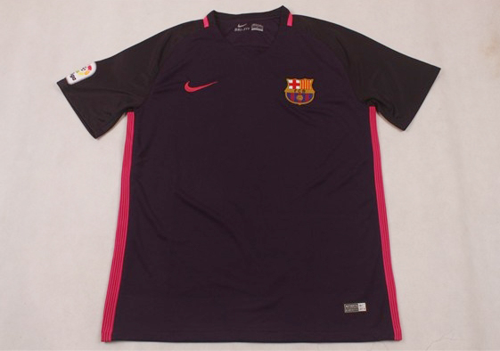 Kaos Bola Grade Ori Barcelona Away Purple 2016-17