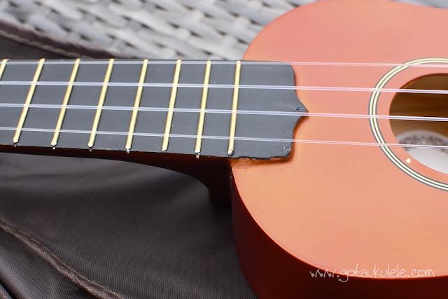 Ashton UKE100 Soprano Ukulele neck joint