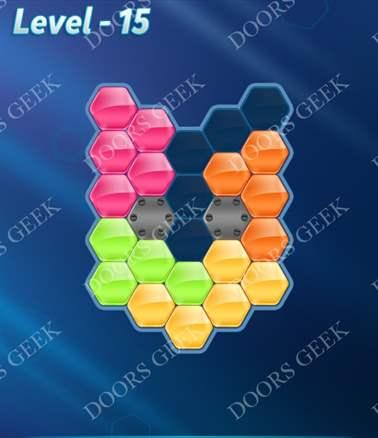 Block! Hexa Puzzle [Intermediate] Level 15 Solution, Cheats, Walkthrough for android, iphone, ipad, ipod