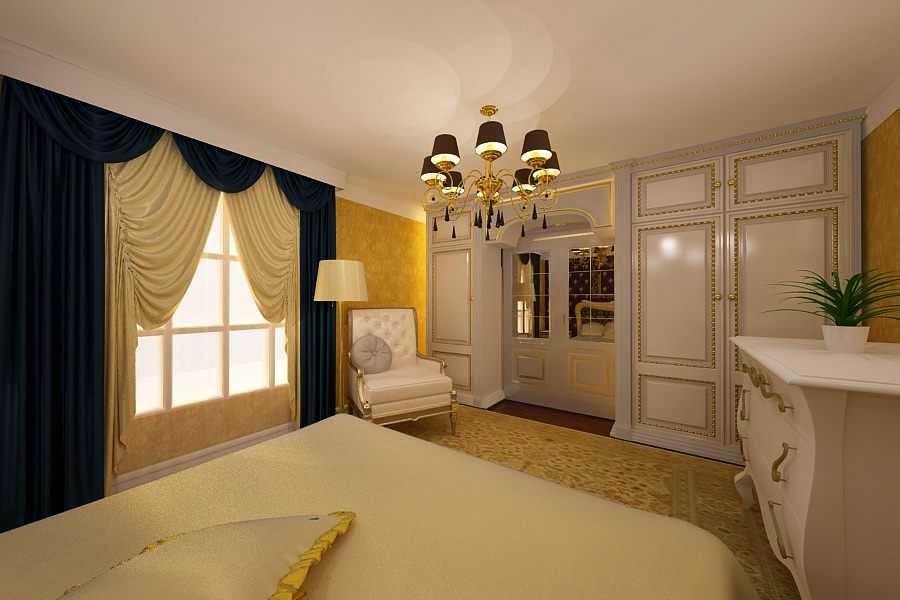 Design interior dormitor clasic de lux casa Bucuresti