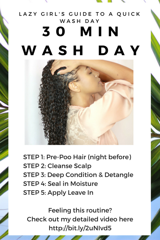 Lazy Wash Day Routine For Fine Curly Hair