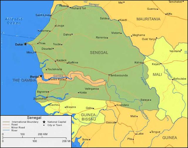Gambar Peta Senegal