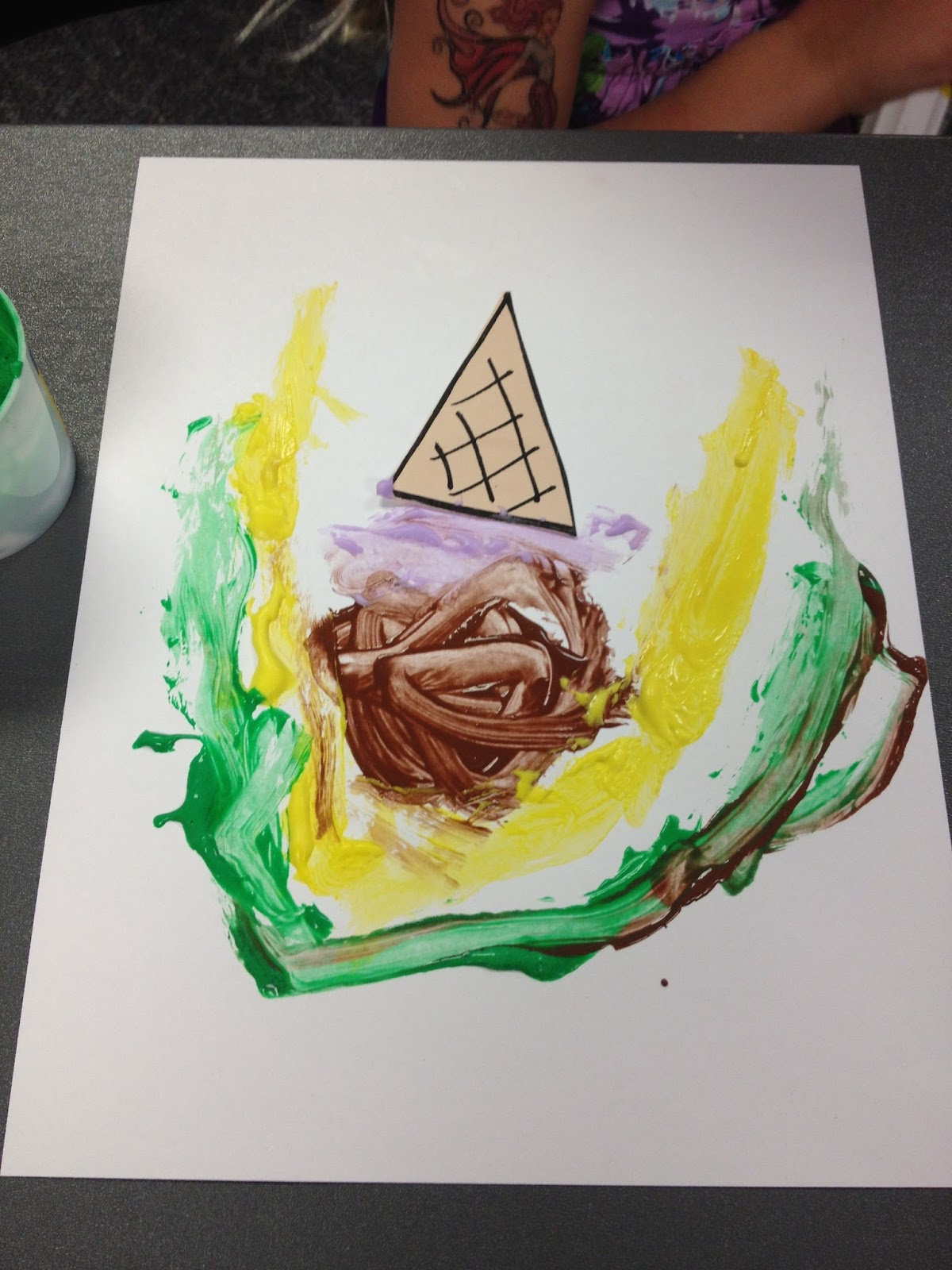 The show me librarian on process art for preschoolers for Library painting ideas