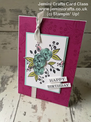 Floral birthday card with the Perennial Birthday stamp set