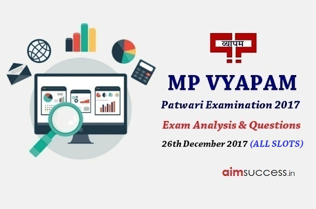 MP Patwari Exam Analysis 2017 - 26th December 2017
