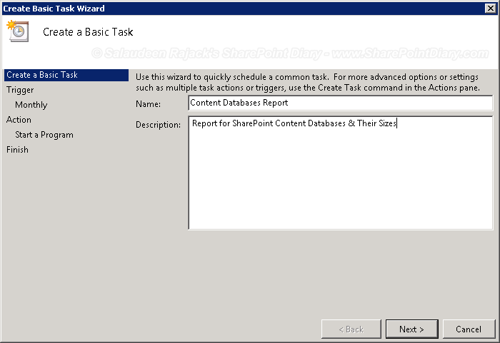 Create a Scheduled Task for PowerShell Script with Windows
