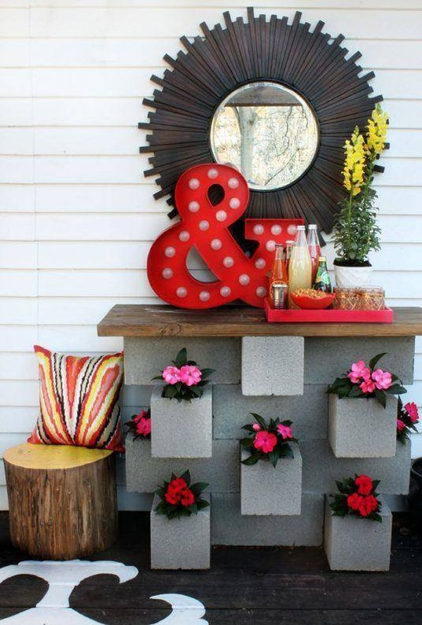 Concrete blocks for exterior decorating | lasthomedecor.com 11