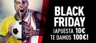 """sportium Bono de Bienvenida apuesta 10 euros y recibe 100 euros """"Black Friday"""" 20-27 noviembre"""