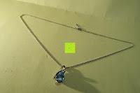 Kette gespreizt: Neoglory Jewellery Silber mit Swarovski Elements Halskette Armkette Ohrringe Tropfen blau