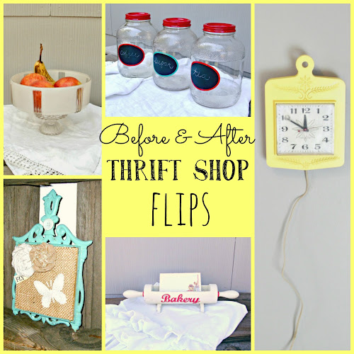 Before and After - Thrift Shop Flips