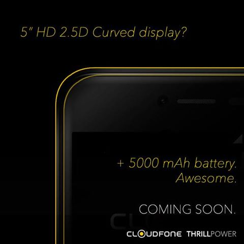 Cloudfone Thrill Power Comes with 5000mAh Battery and 2.5D Display