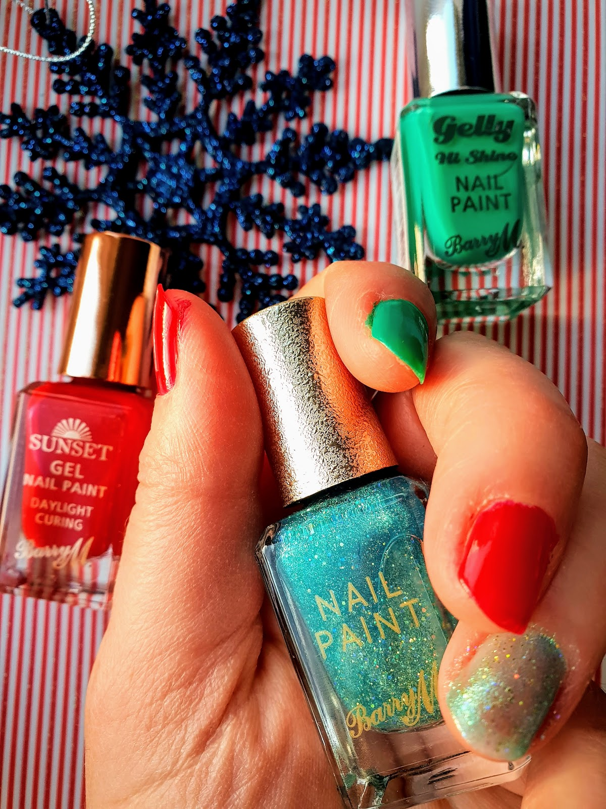 Christmas Holiday Nails with Barry M
