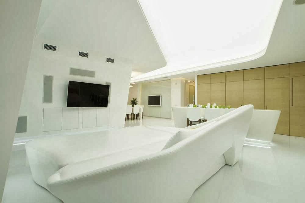 modern penthouse with twin toilets