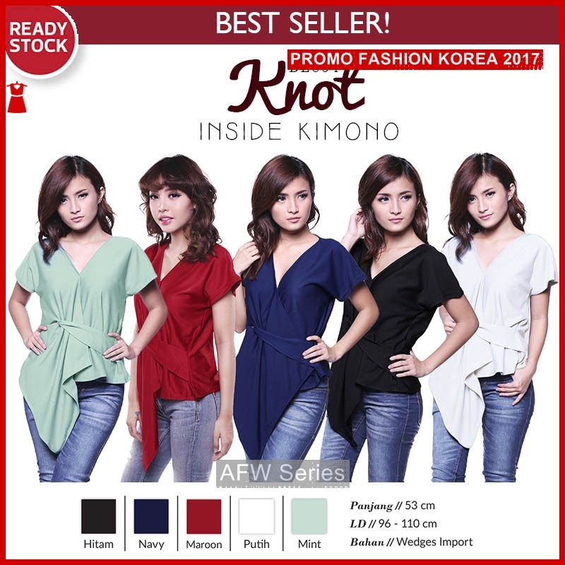 BAMFGW076 Knot Kimono BL854 Wanita PROMO BMG