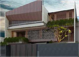 contoh pagar tembok minimalis modern