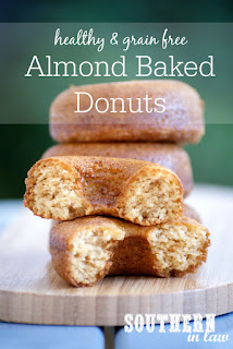 Healthy Four Ingredient Grain Free Almond Baked Donuts Recipe Paleo