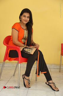 Telugu Actress Chandana Stills in Salwar Kameez at Karam Dosa Movie Press Meet  0091.JPG
