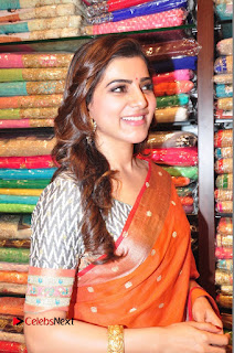 Actress Samantha Pictures in Saree at South India Shoping Mall Launch 0314