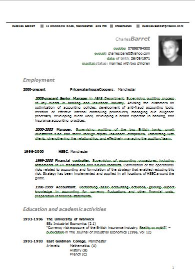 cv-or-resume-example-of-a-cv-resume--sample-cv-format-resume-formats ...