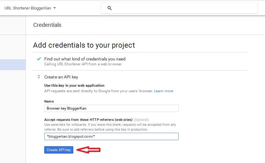 Create an API key