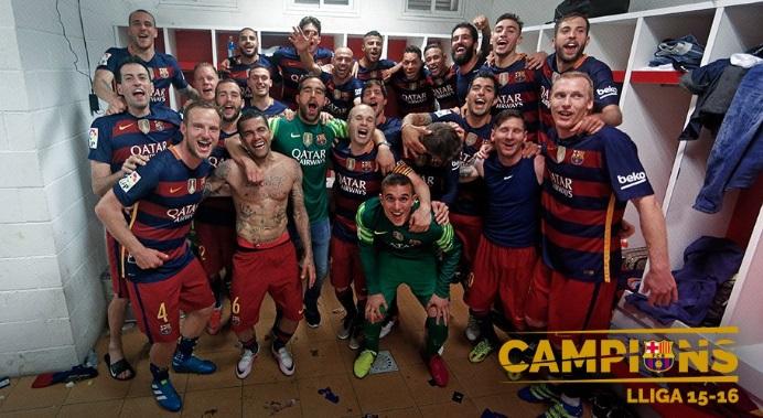 La Im 225 Genes Del Barcelona Campe 243 N De Liga 2016 Liga