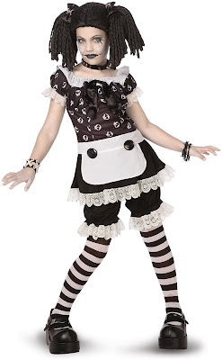 Gothic Rag Doll Halloween Costume at PartyBell.com