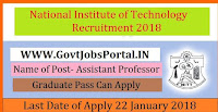 National Institute of Technology Recruitment 2018 – 122 Assistant Professor, Associate Professor