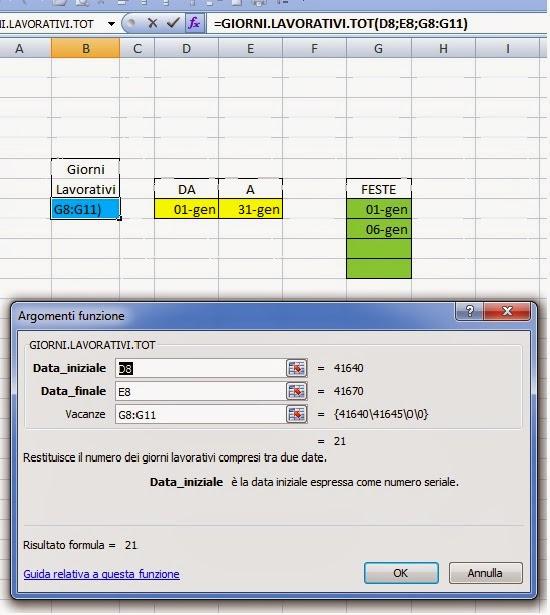low priced 3cbcd 67421 Excel easy Excel facile: Come calcolare i giorni lavorativi ...