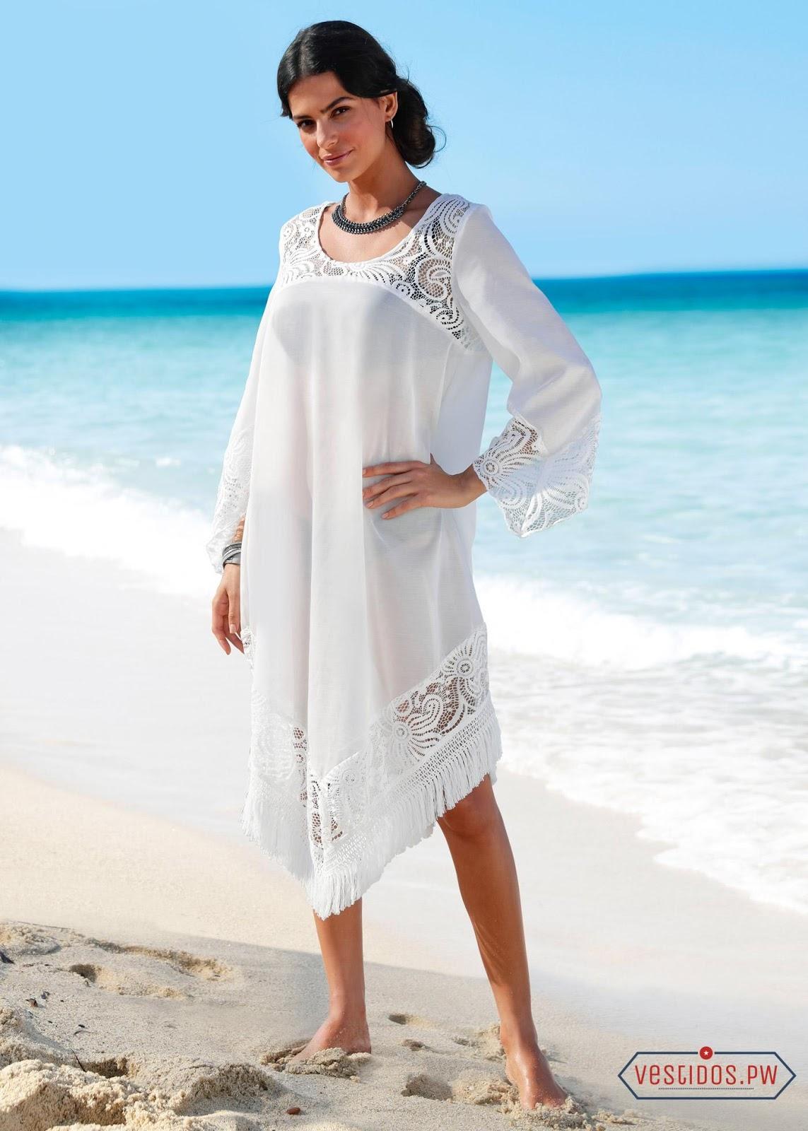 Modelos de vestidos blancos de playa