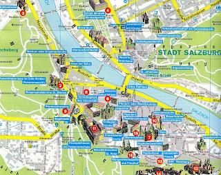 Mapa de Salzburgo.