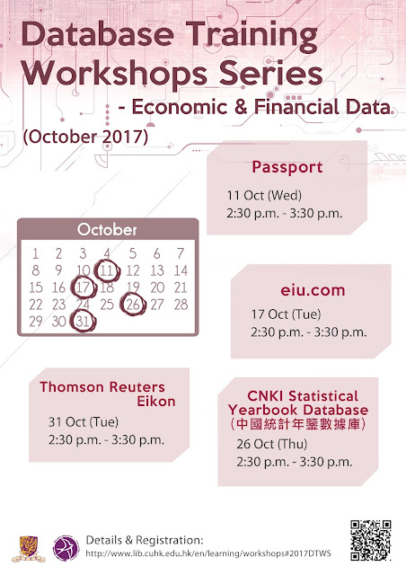 Databases Training Workshops Series (Oct 2017)
