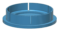 polar axis scope cap designed in 123D