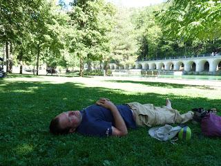 シャップ公園 parc de la Schappeで昼寝