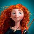 Invitacion de Cumpleaños de Merida Brave Princesas Disney