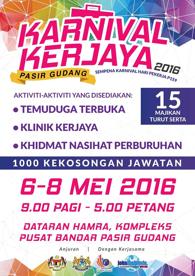 1000 Kekosongan Jawatan - Karnival Kerjaya Pasir Gudang 2016